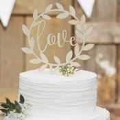 Tortenaufsetzer und Hochzeitsfiguren